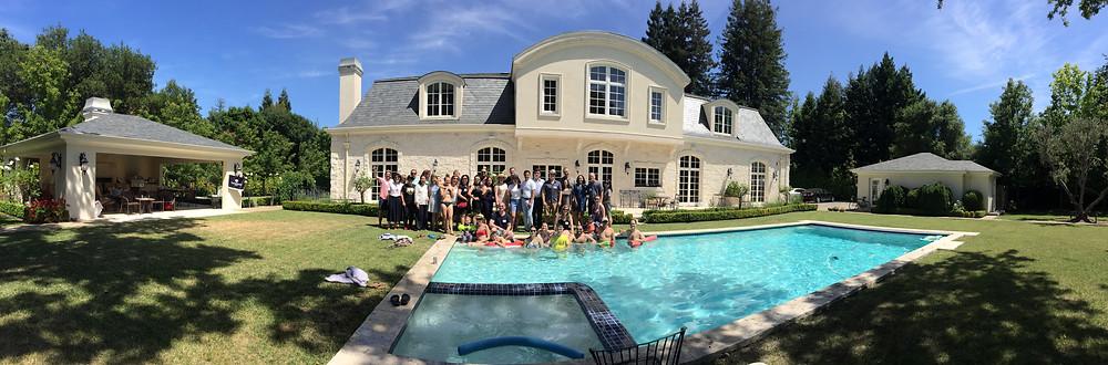 3rd Annual Thunderbird BBQ gathering panorama shot