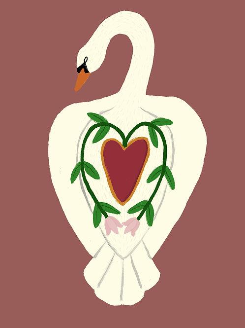 Love of the Swan art print