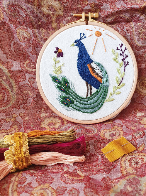 Warm tones embroidery kit