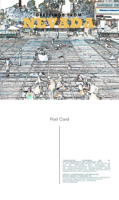 Coronavirus art, arte coronavirus, postales coronaviris, COVID art, arte covid, postales, María Campiglia, Nevada indigentes,
