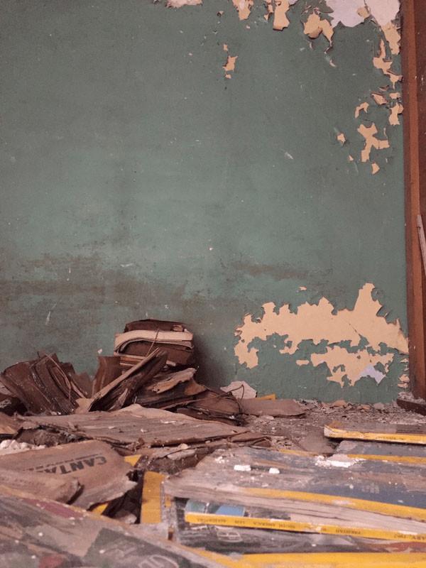 Los lugares donde se encontraron los objetos y documentos