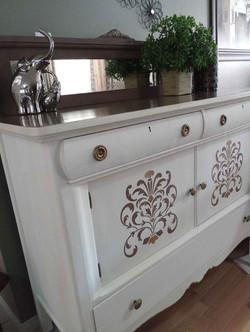 White Vintage White Sideboard