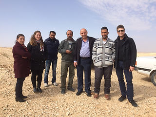 Oxfam protection project field team, site visit - Palestine