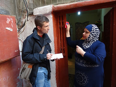 Oxfam interviews in Sabra and Shatila refugee camps - Lebanon