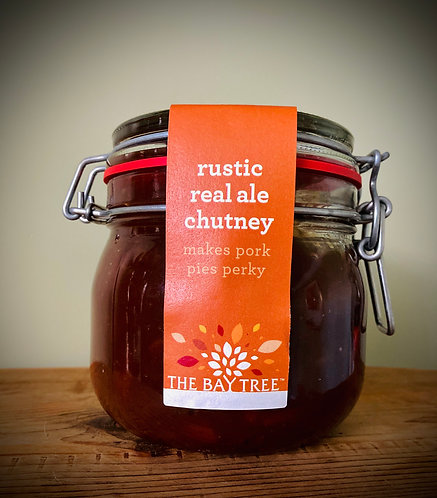 Rustic Real Ale Chutney Kilner Large 600g. Suitable for vegetarians.