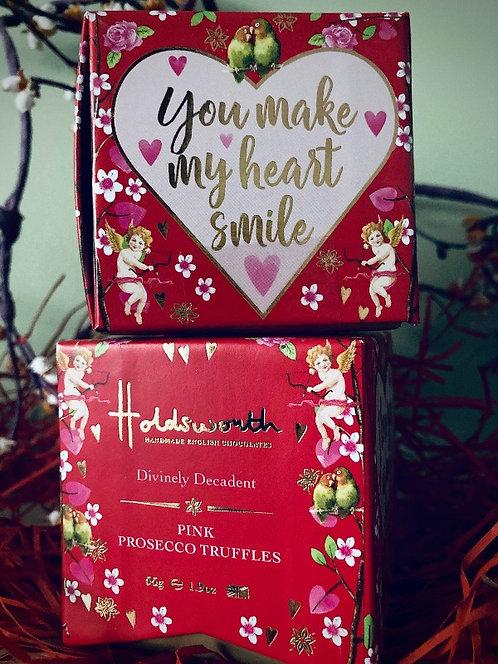 Holdsworth Pink Prosecco Truffles 55g Box