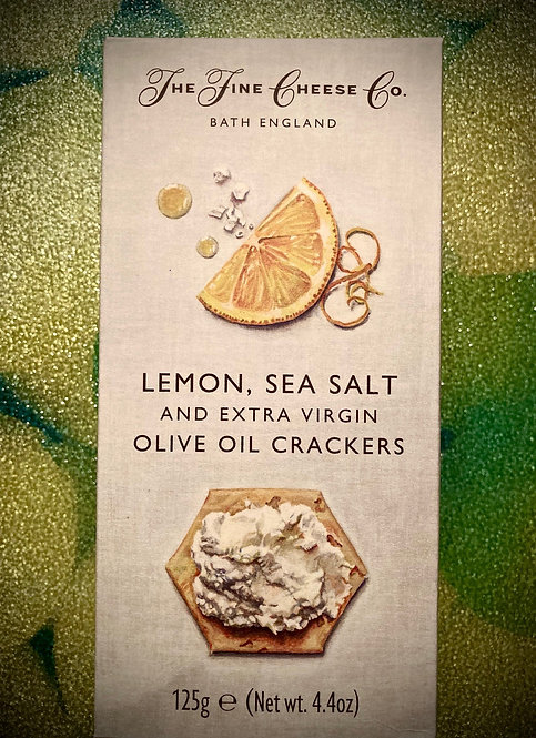 Lemon, Sea Salt & Extra Virgin Olive Oil Crackers 125g boxing Day Gorgeousness