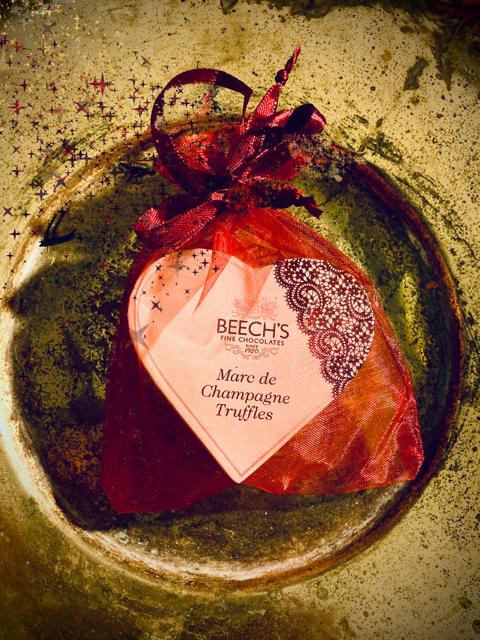 Marc de Champagne Truffles Heart box
