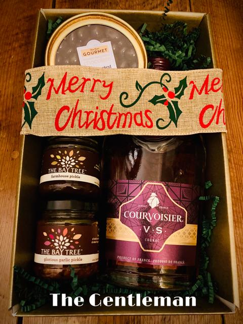 The Gentleman's Box, Cognac, Rum Raisons and Pickles