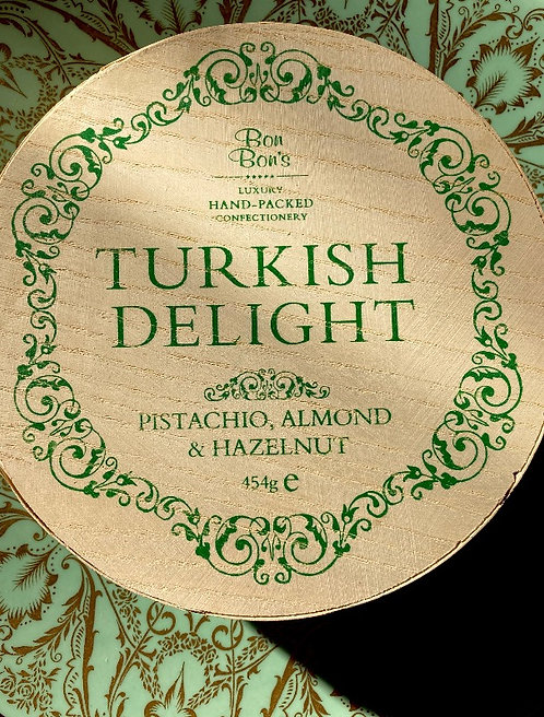 Stunning Hand Packed Turkish Delight 454g Wooden Box