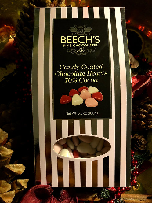 Candy Coated Chocolate Hearts