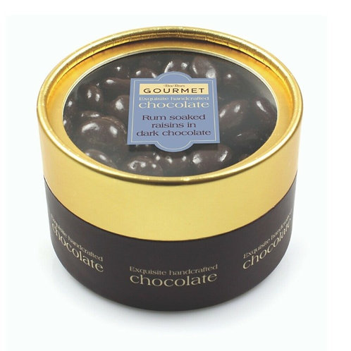 Gourmet Rum Soaked Raisins in Dark Chocolate 190g