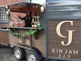Mobile gin bar at a recent wedding fair