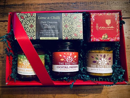 Our Boxing Day Delicious Gift Box, Fine Chocolates & Preserves