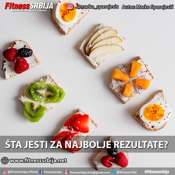 Šta jesti za najbolje rezultate?
