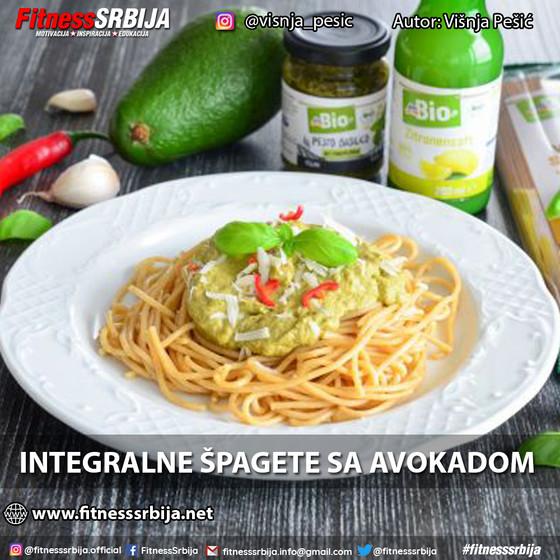 Integralne špagete sa avokadom