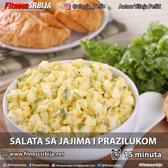 Salata sa jajima i prazilukom
