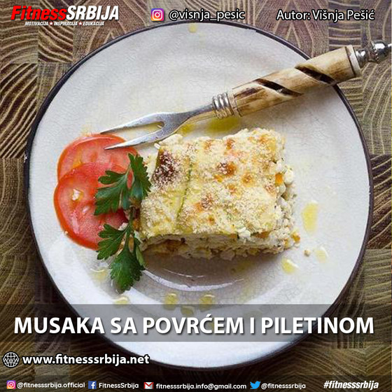 Musaka sa povrćem i piletinom