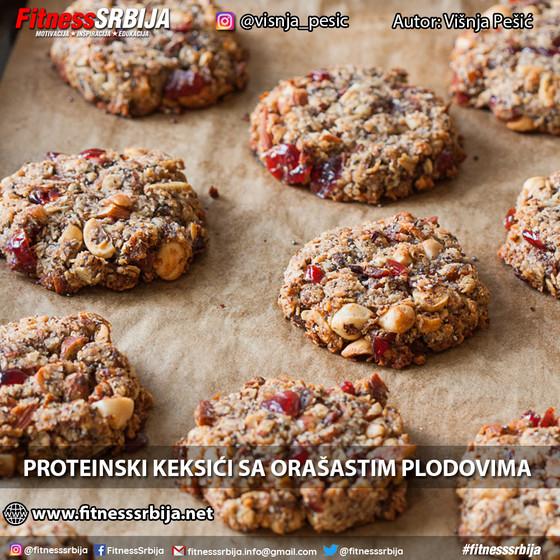 Proteinski keksići sa orašastim plodovima