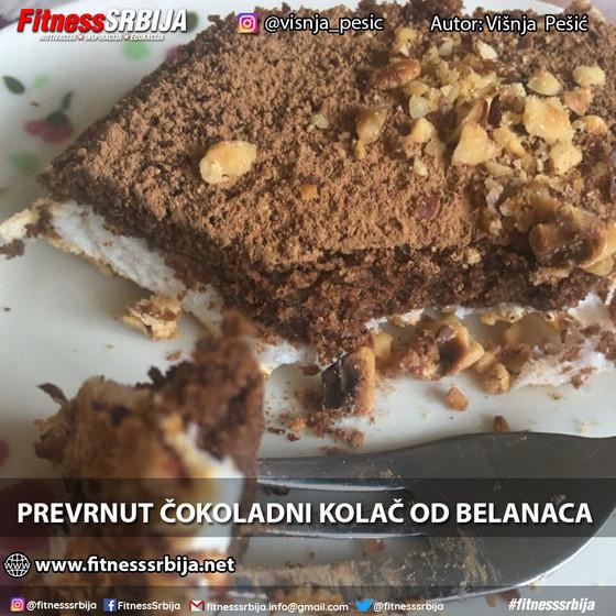 Prevrnut čokoladni kolač od belanaca