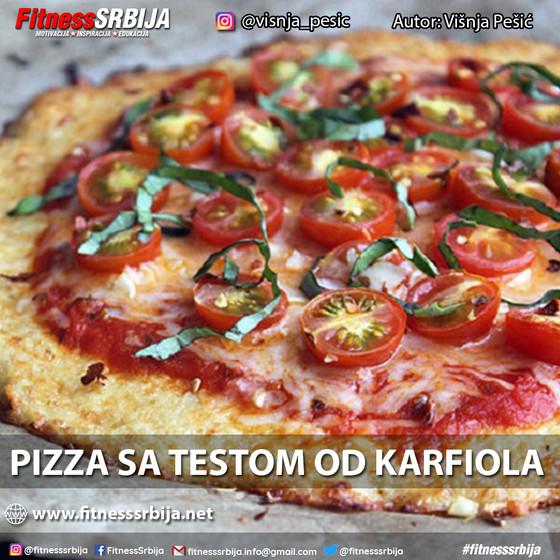 Pizza sa testom od karfiola