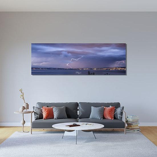 Panoramique Orage Léman