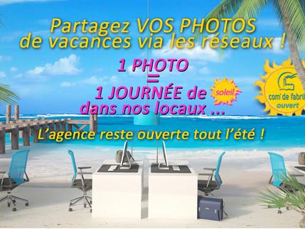 L'agence reste ouverte tout l'été !!!