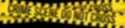 crime scene do no cross cluedo levend linten geel zwart