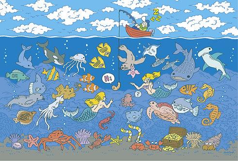 "#019 ""Fishing"" ポストカード"