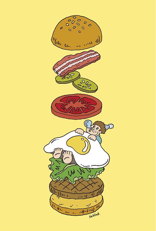 """""""hamburger"""" ポストカード"""