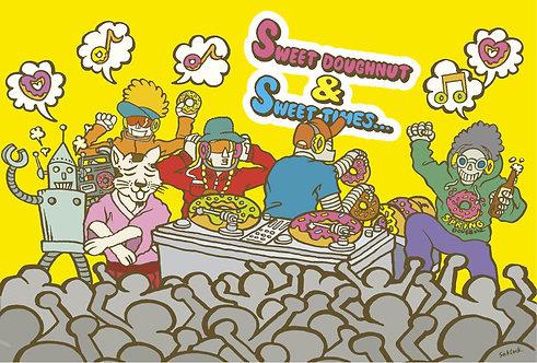 """#008 """"Doughnut Party"""" ポストカード"""