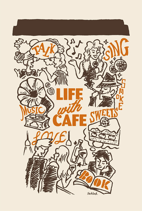 """Life with Cafe"" ポストカード"