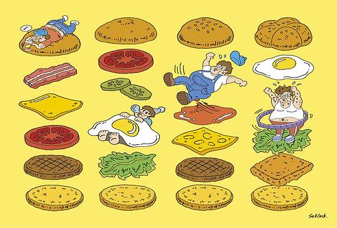 """#018 """"Hamburger"""" ポストカード"""