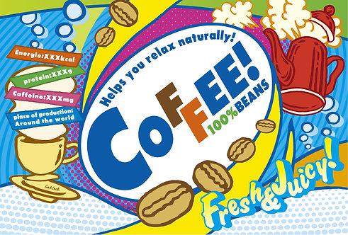 """#001 """"COFFEE!"""" ポストカード"""