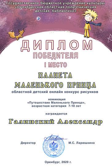 Галинский Александр Диплом Планета Мален