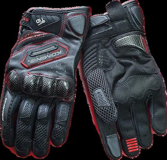 Komine Carbon / Leather / Mesh Gloves