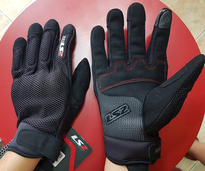 LS2 Ray Man Gloves Black