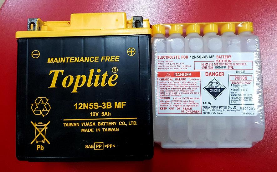 Battery Toplite 12N5S-3B