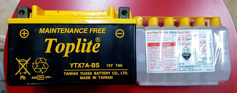 Battetry Toplite YTX7A-BS