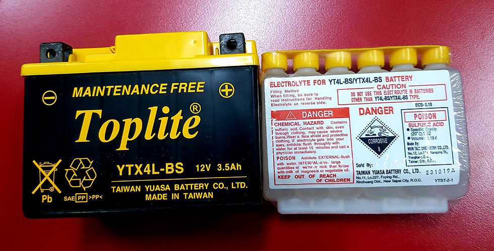 Battery Toplite YTX4L-BS