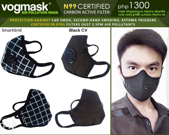 Vogmask -  Organic Natural Fibre with 2 exhuast outlets