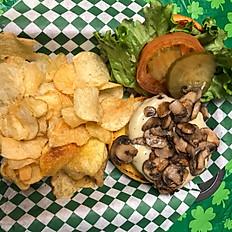 Pub Mushroom & Swiss Burger