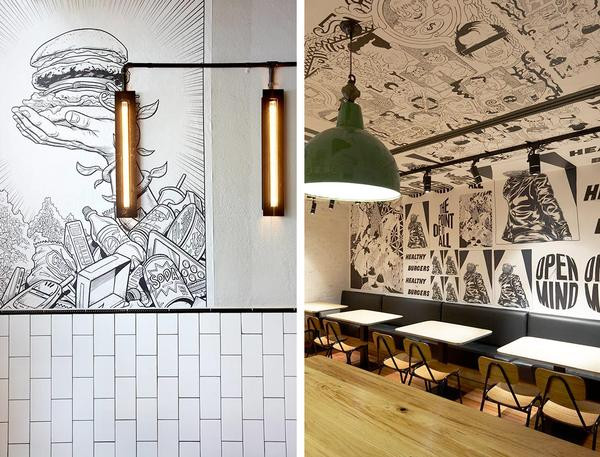 Restaurant Wallcovering