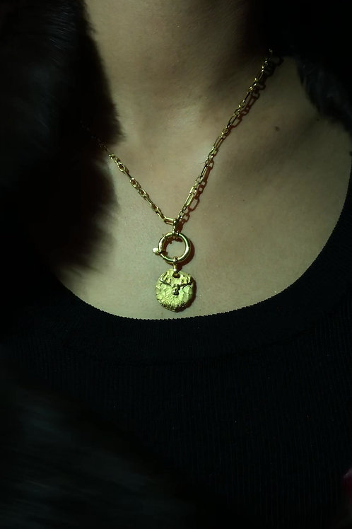 Golden Moose Necklace