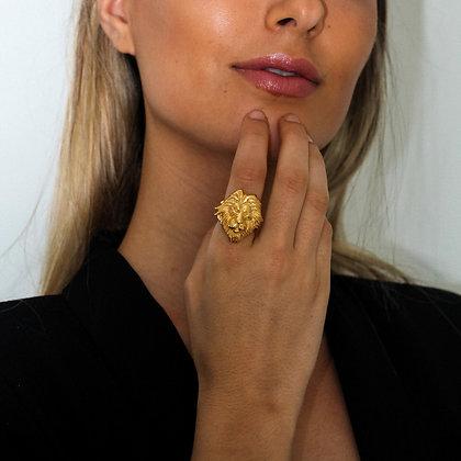 Golden Lion Ring