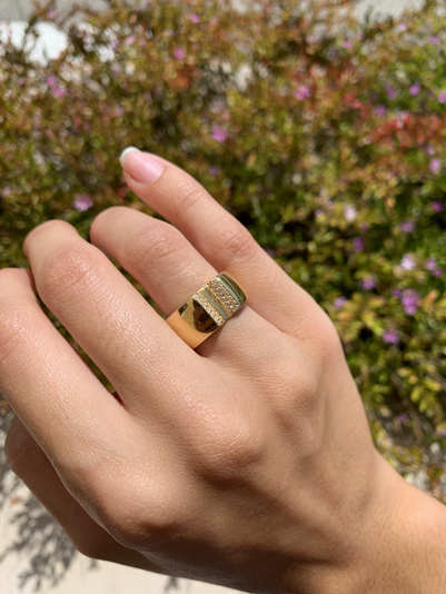 Golden BornToShine Ring