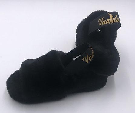 Vanidosa Fab Slippers - BLACK