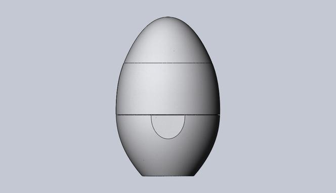Estojo formato oval