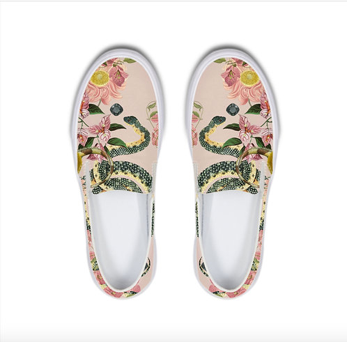 Snakes and lizards pink Slip-On