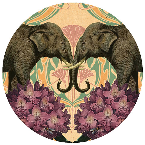Elephants - Sold as individual coaster.